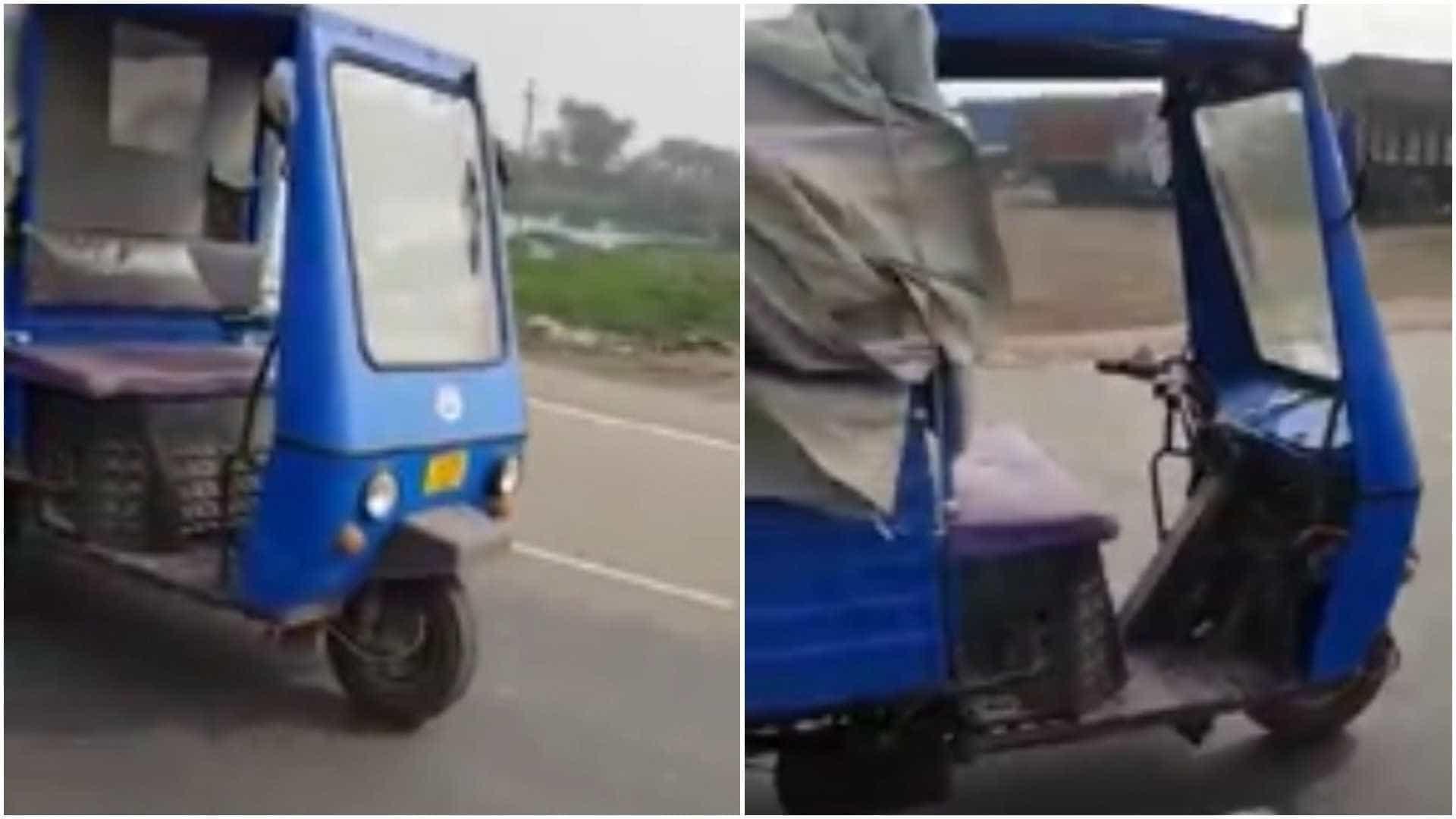 Bizarro: tuk-tuk percorre 1 km sem motorista