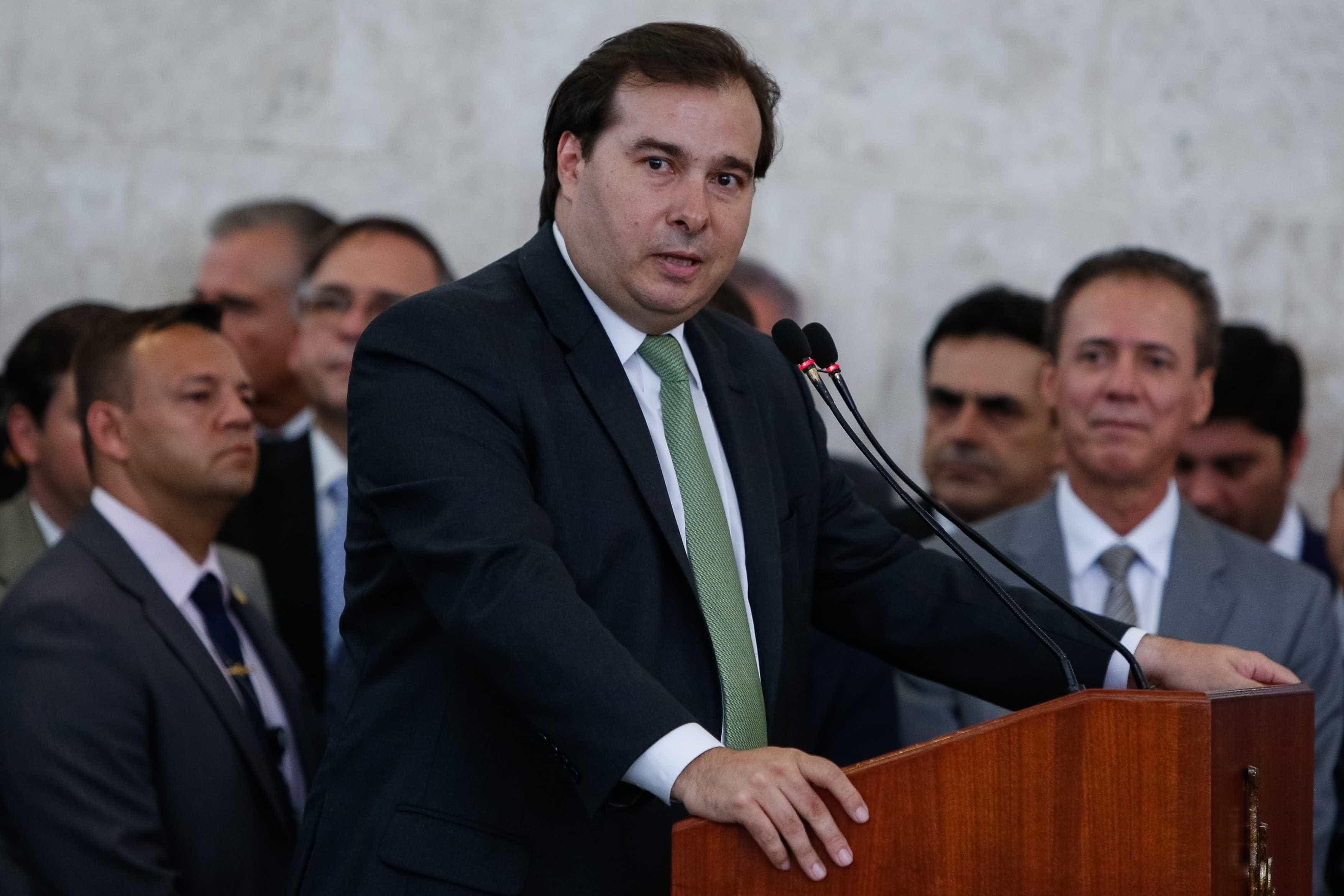 Maia ataca nova pauta econômica do governo: 'Um abuso' e 'um equívoco'