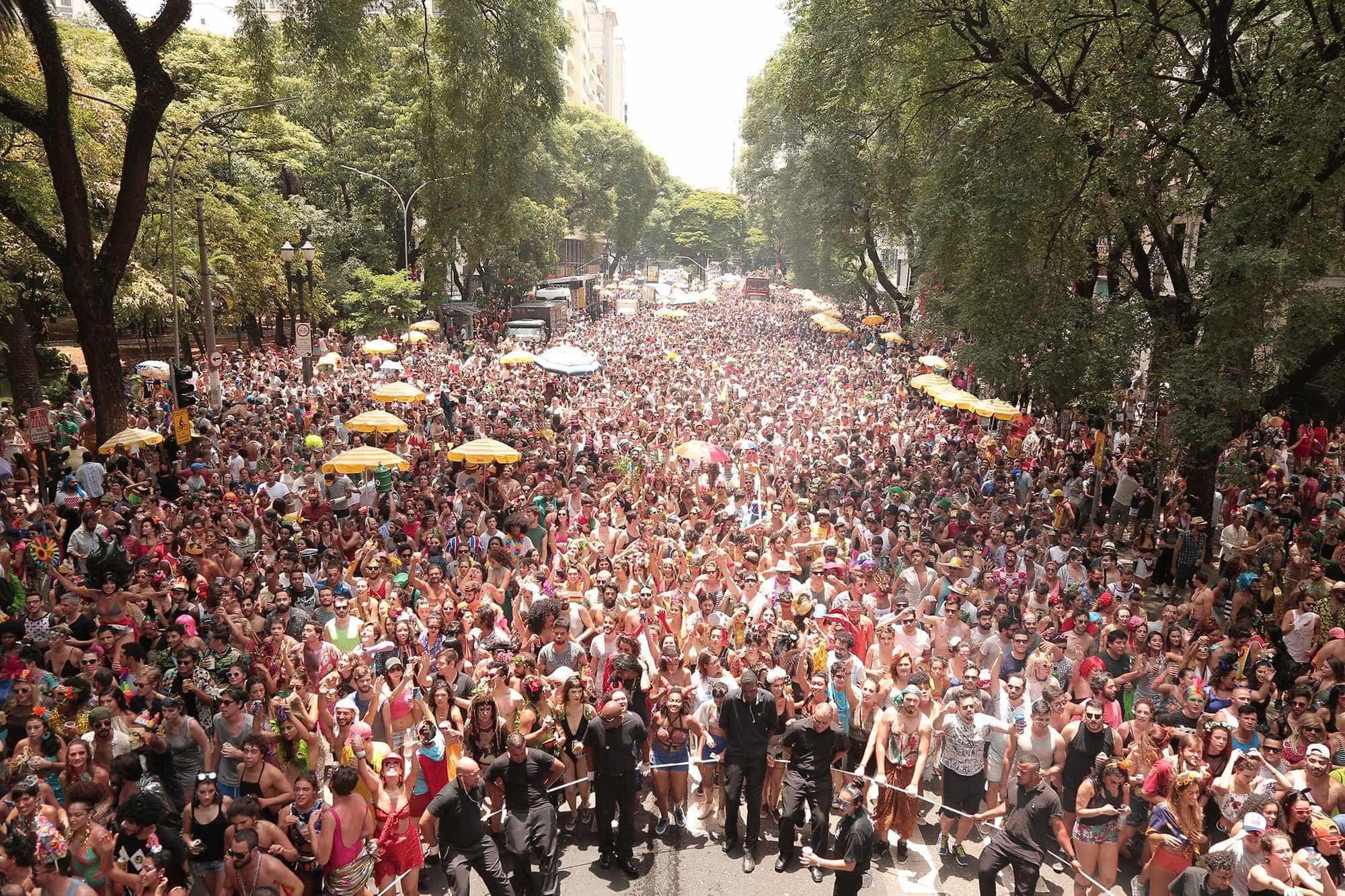 Foliões aprovam desfile de blocos na Avenida 23 de Maio, em São Paulo