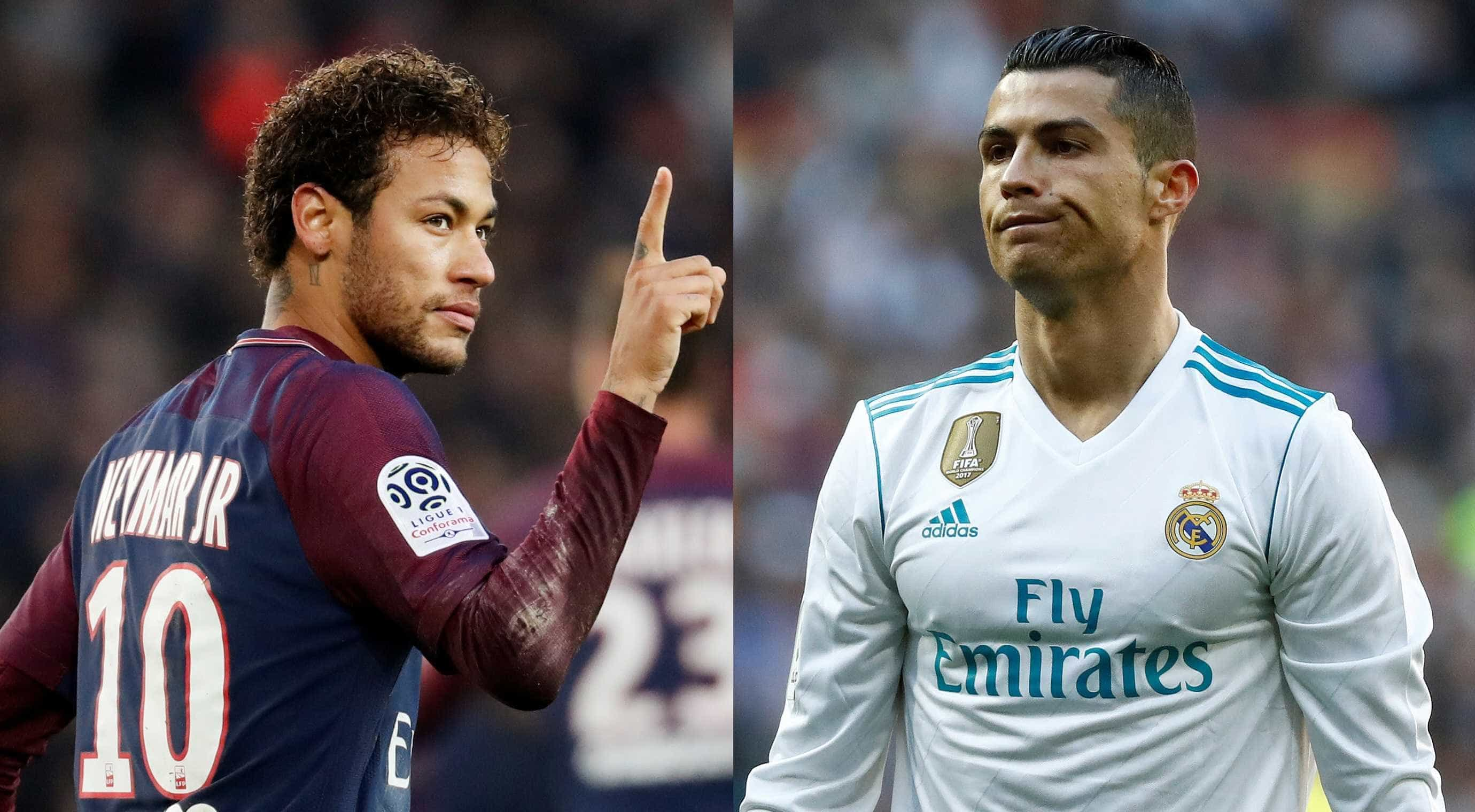 Real Madrid x PSG: a prova de fogo de Neymar e Cristiano Ronaldo