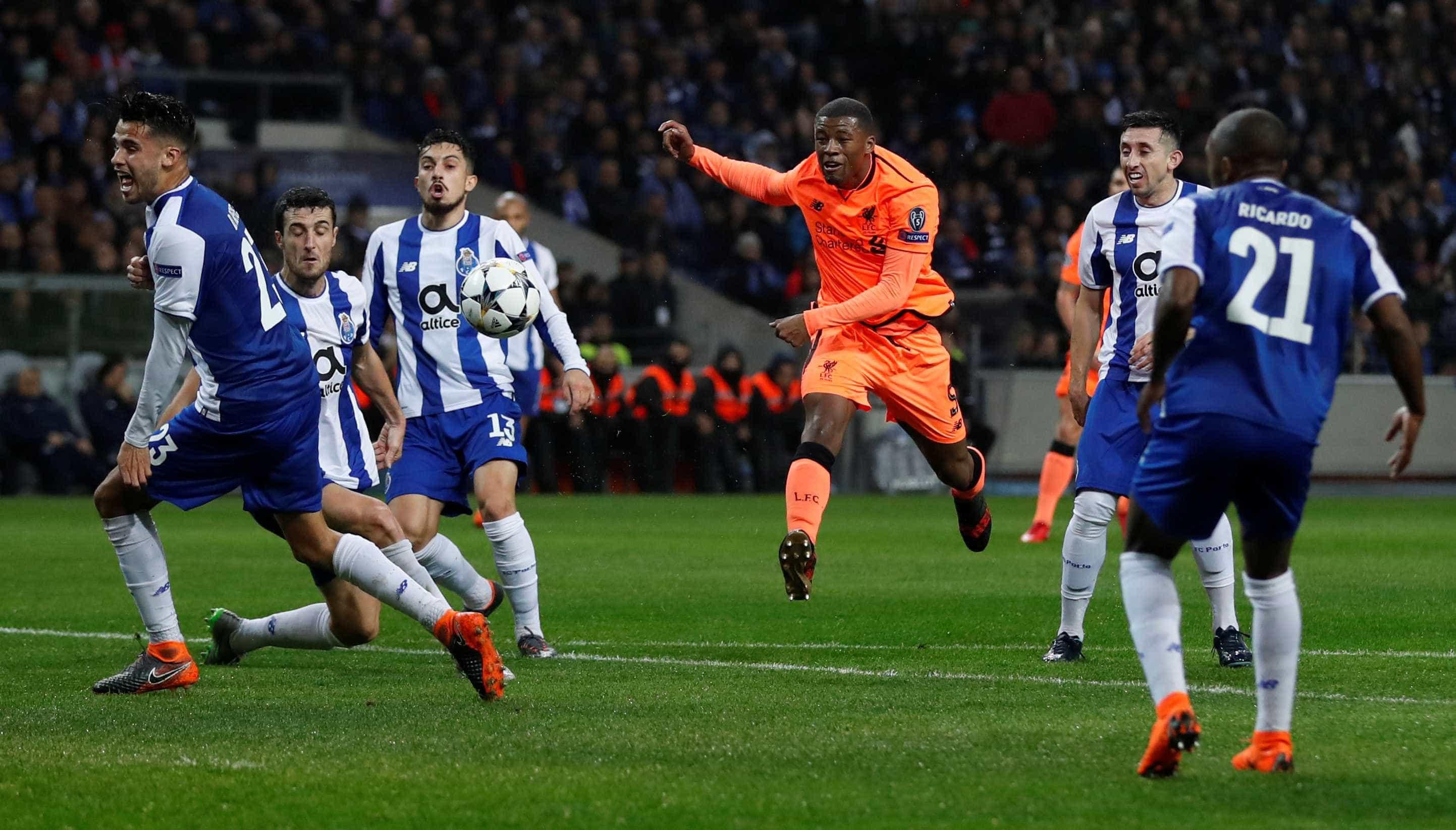 Com três de Mané e um de Firmino, Liverpool goleia o Porto