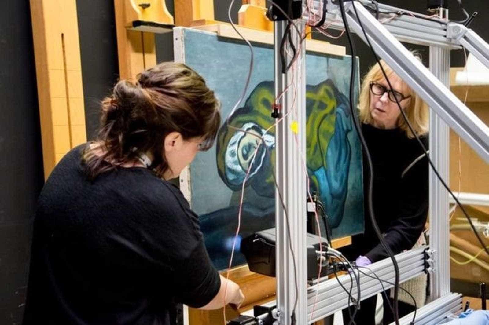 Quadro de Picasso esconde pintura de outro artista