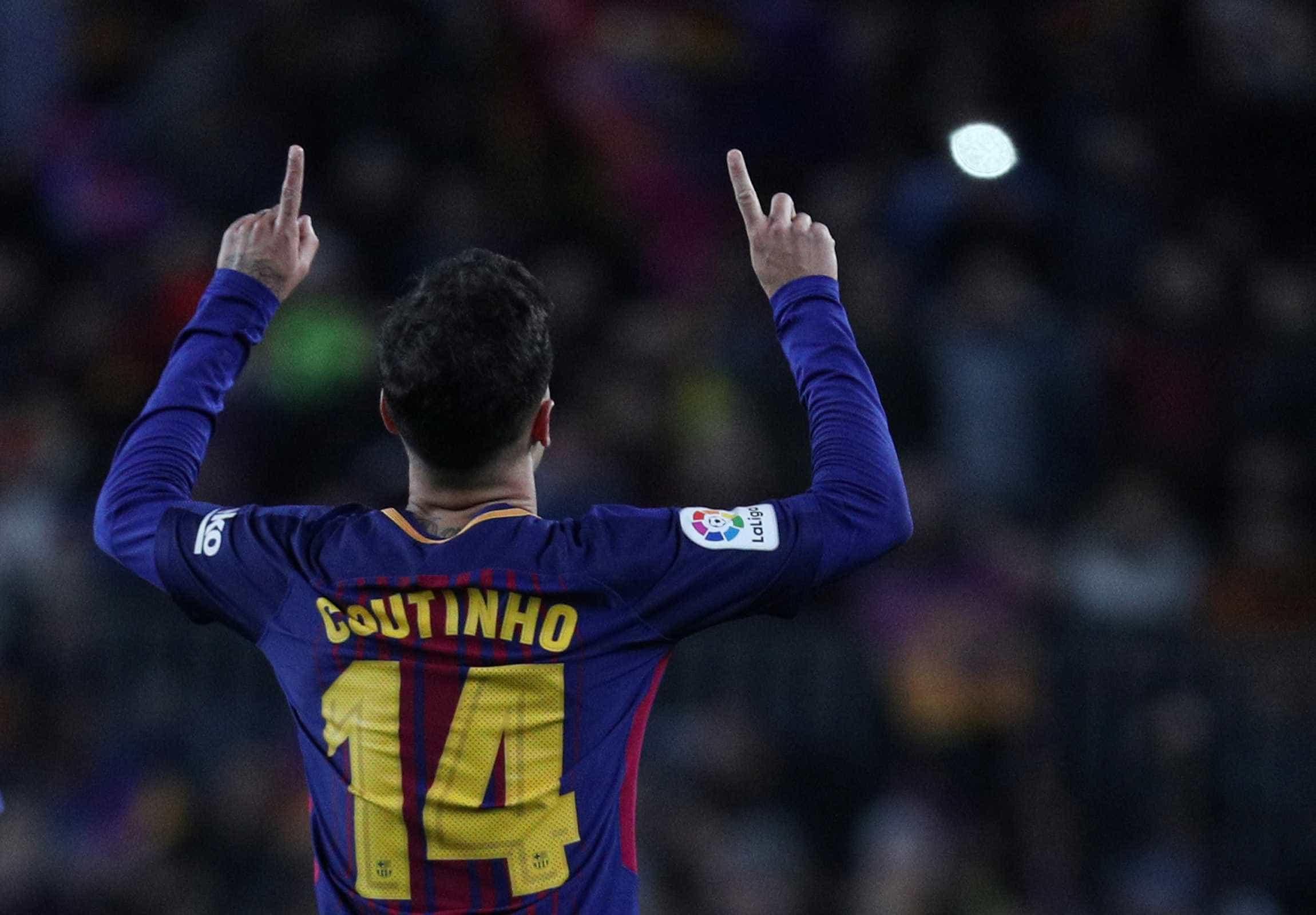Com golaço de Coutinho, Barcelona bate Girona e quebra recorde