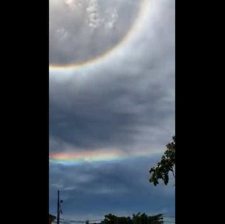 Fenômeno raro chama a atenção de moradores no céu de SC; vídeo