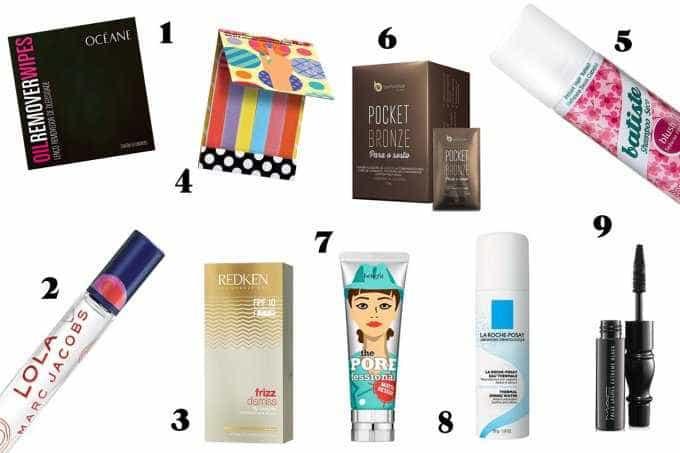 Confira quais 9 produtos essenciais você deve levar na bolsa