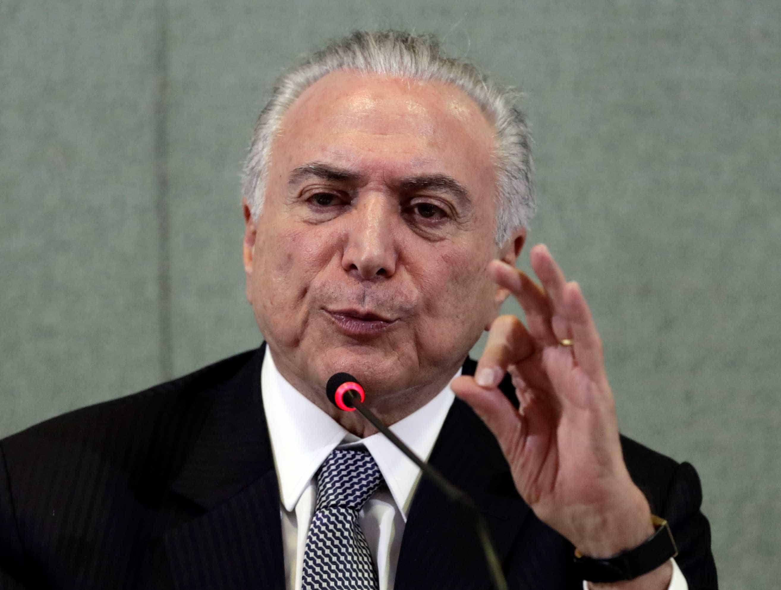 Temer diz que seu governo pode ter sido o melhor que o Brasil conheceu