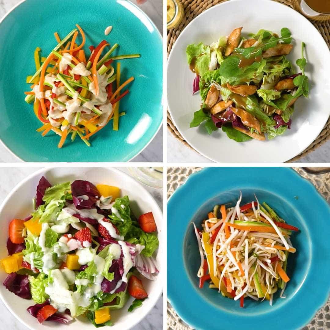 Aprenda 4 molhos diferentes para salada