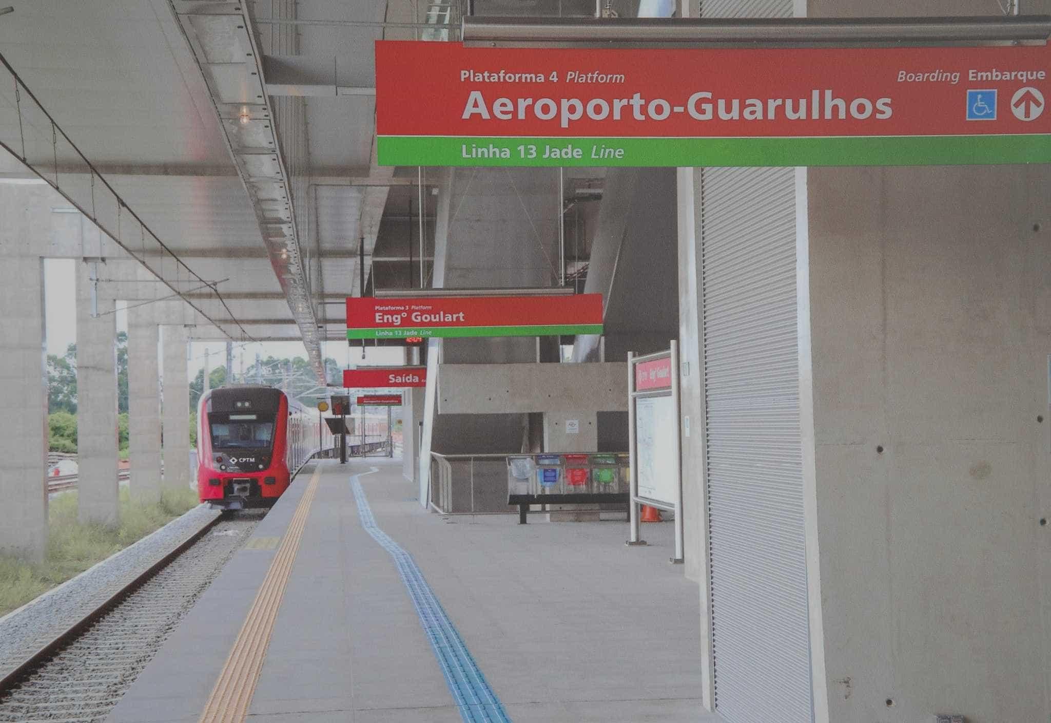 Trem direto para Aeroporto de Guarulhos começa a operar na 3ª
