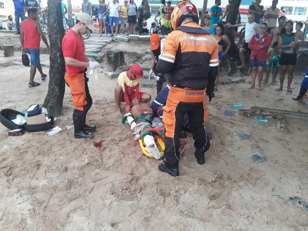 Homem é atacado por tubarão na praia de Piedade, no Grande Recife