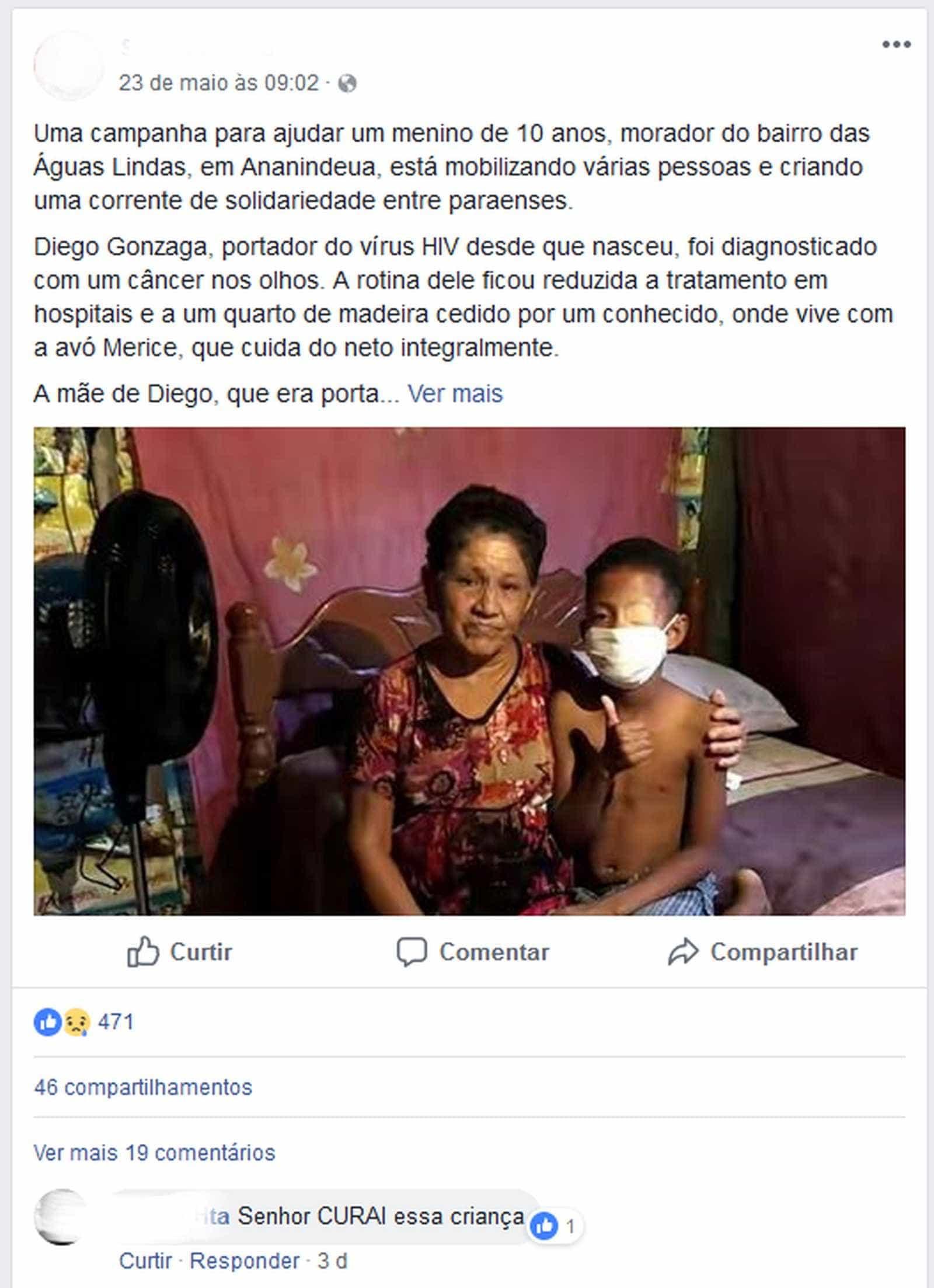 Mãe e avó confessam inventar câncer em menino para arrecadar dinheiro