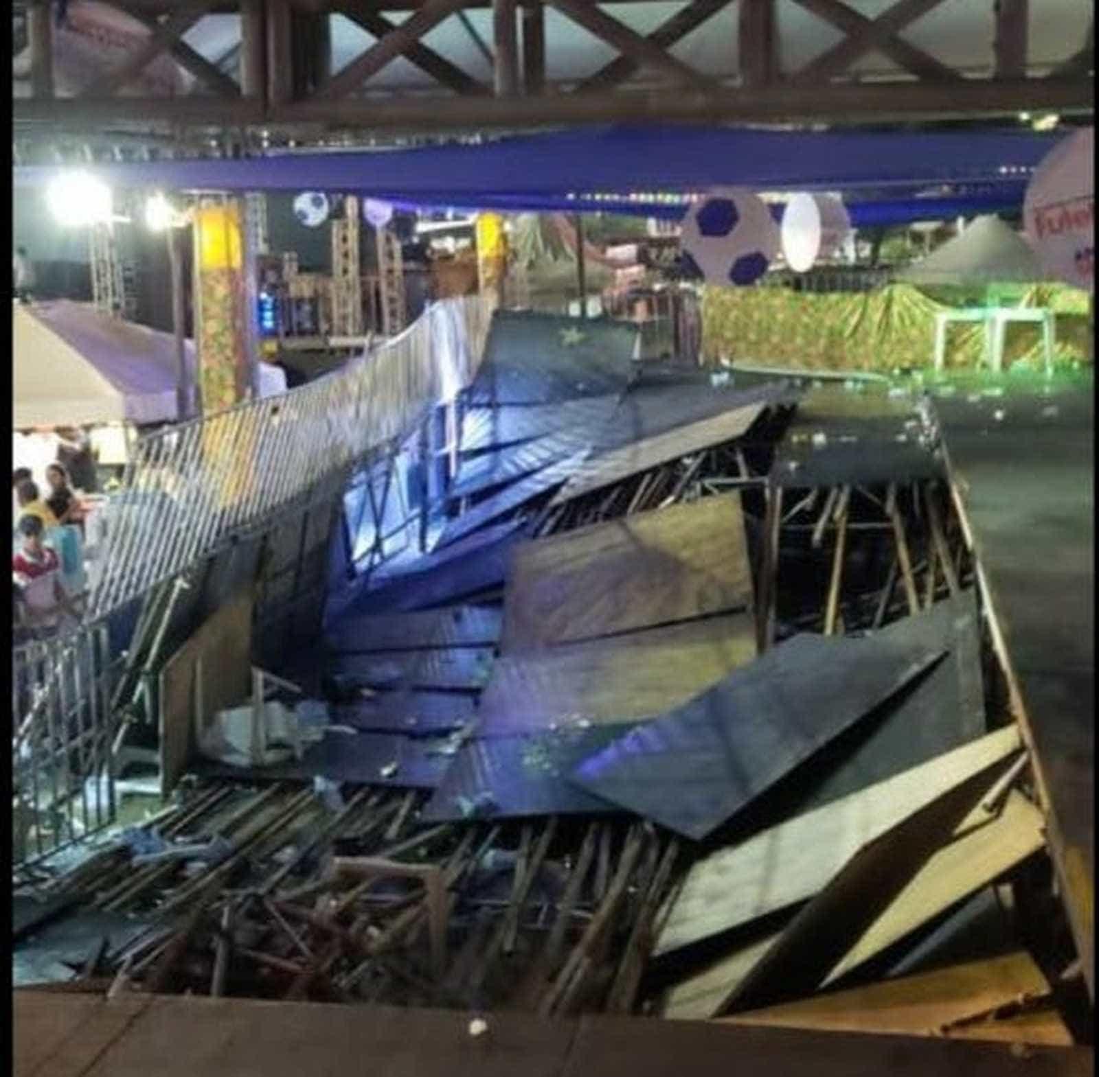 Camarote da maior festa junina do RN desaba em show de Xand Avião