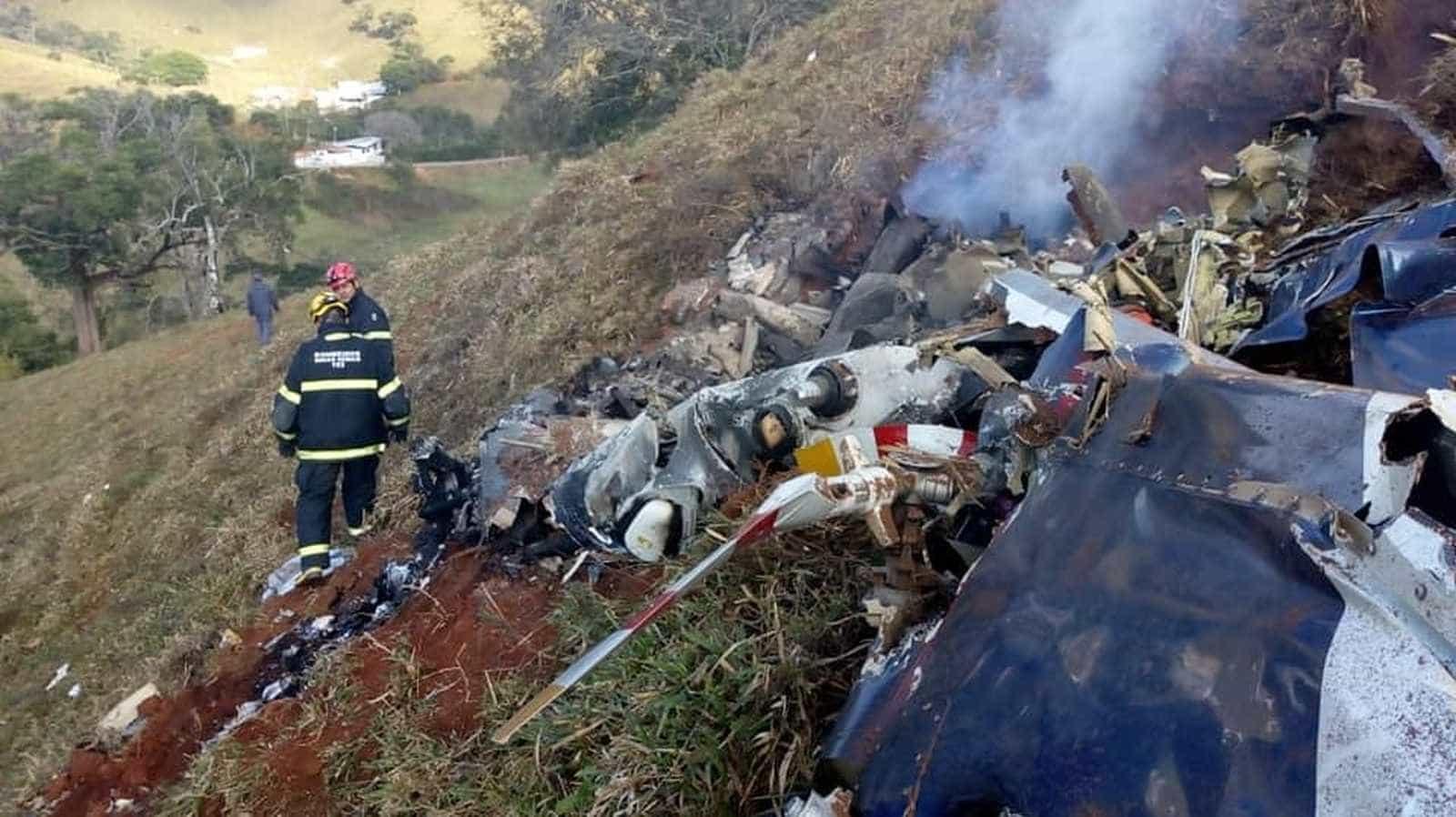 Piloto de helicóptero que caiu relata problemas pouco antes do acidente