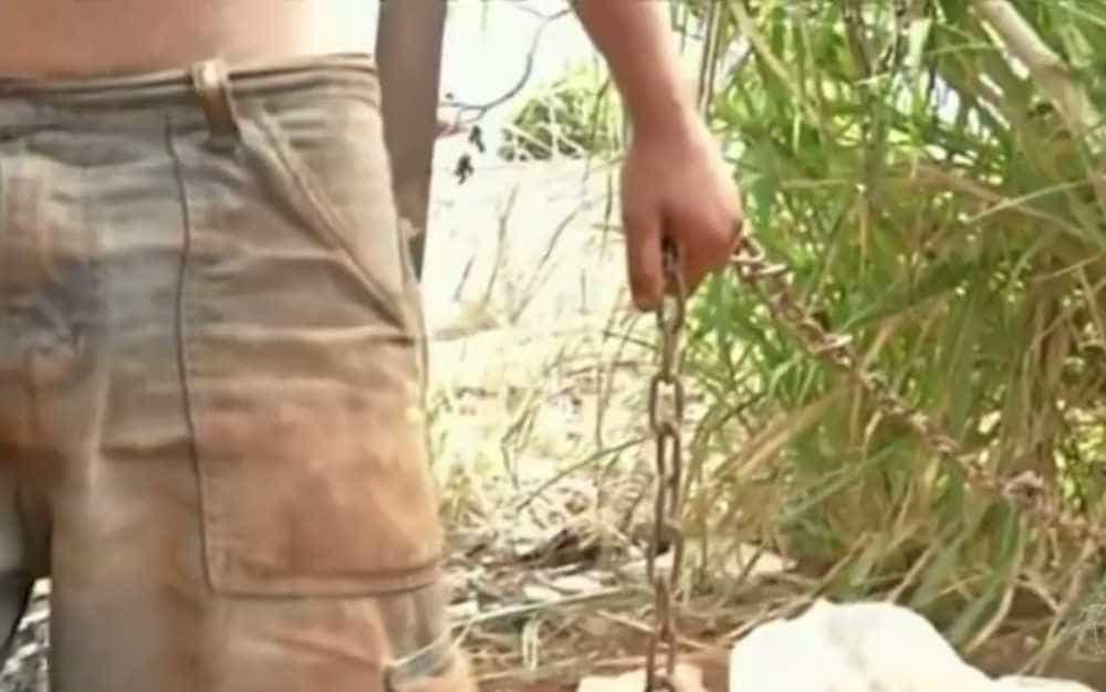 Jovem com deficiência mental é encontrado acorrentado em árvore