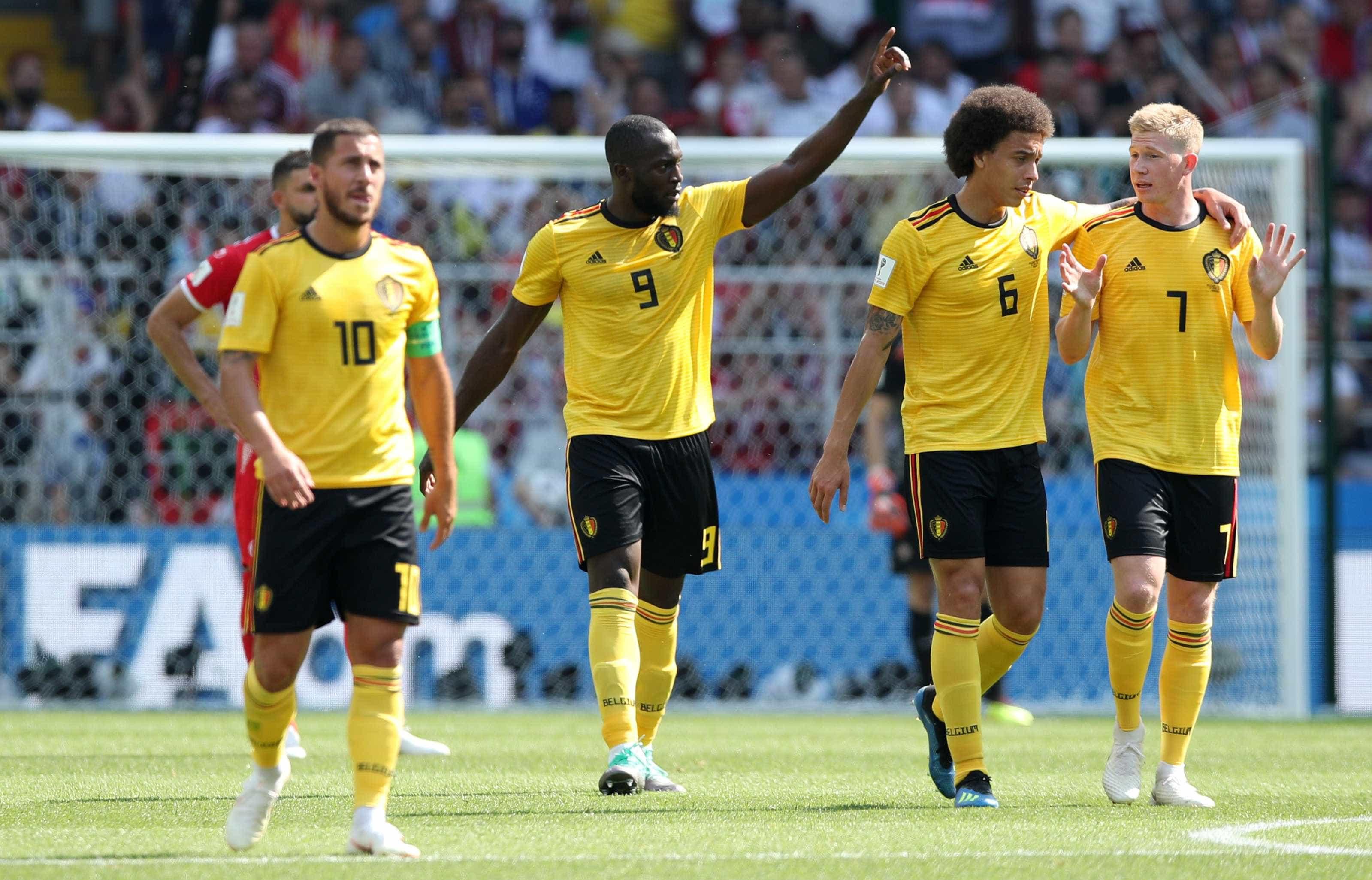 Bélgica goleia a Tunísia por 5 a 2 em Moscou e lidera o Grupo G