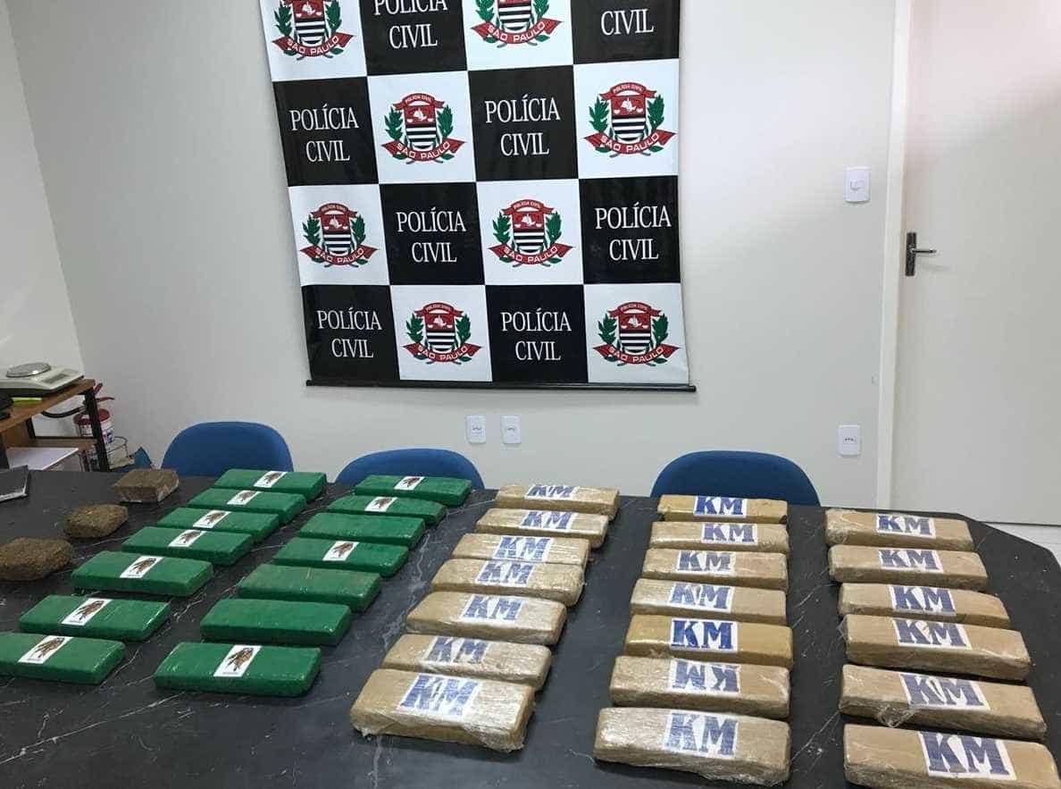 Polícia prende trio de traficantes e apreende 40 kg de maconha