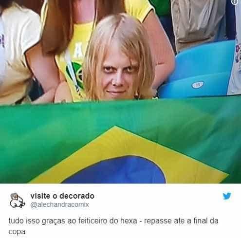 Torcedor misterioso vira mascote do Brasil em busca pelo hexa; memes