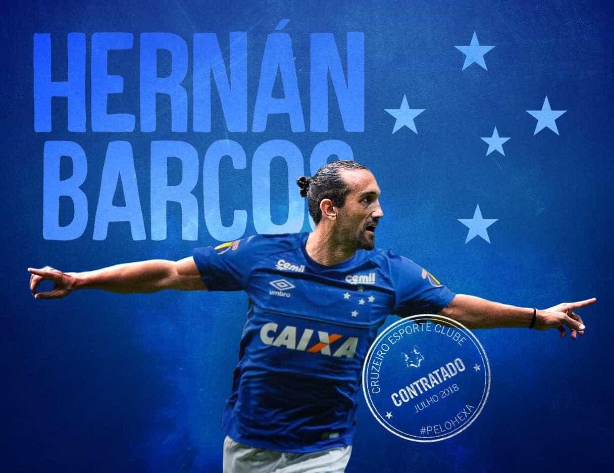 Cruzeiro confirma contratação do atacante Hernán Barcos
