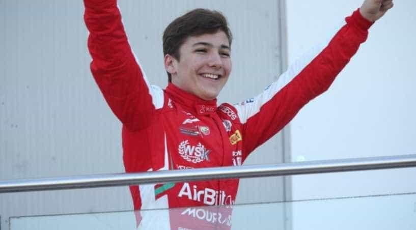 Neto de Fittipaldi, Enzo comemora liderança e ganha tour com Vettel