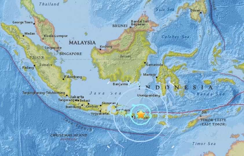 Forte terremoto atinge a Indonésia; 6,4 de magnitude
