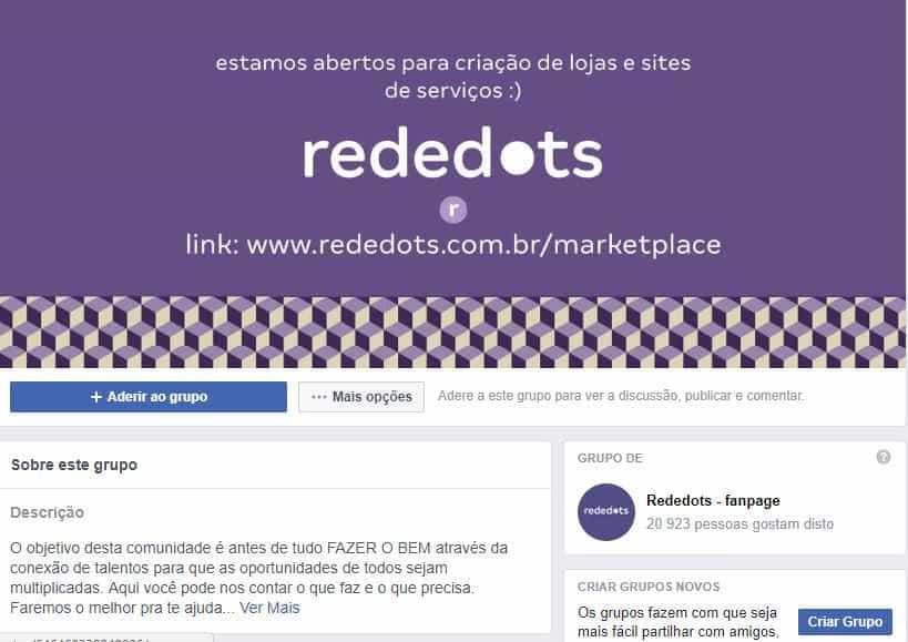 Grupo de Facebook, Rededots terá shopping virtual para empreendedores