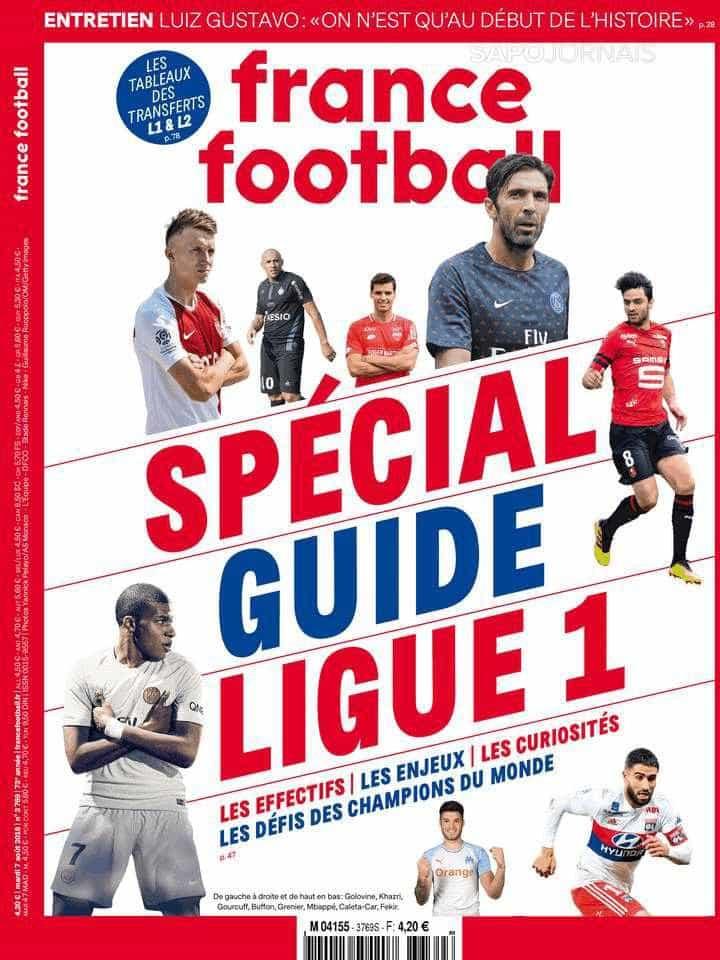 Revista 'ignora' Neymar em capa de guia do Campeonato Francês