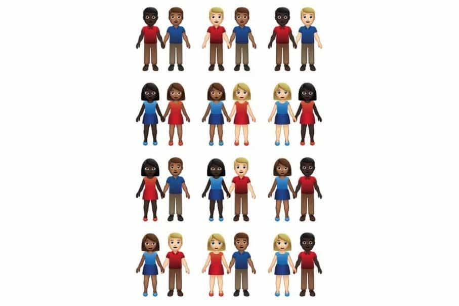 Emoji de casal terá 55 versões diferentes