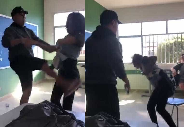 Vídeo mostra aluna sendo espancada em sala de aula de escola no RJ
