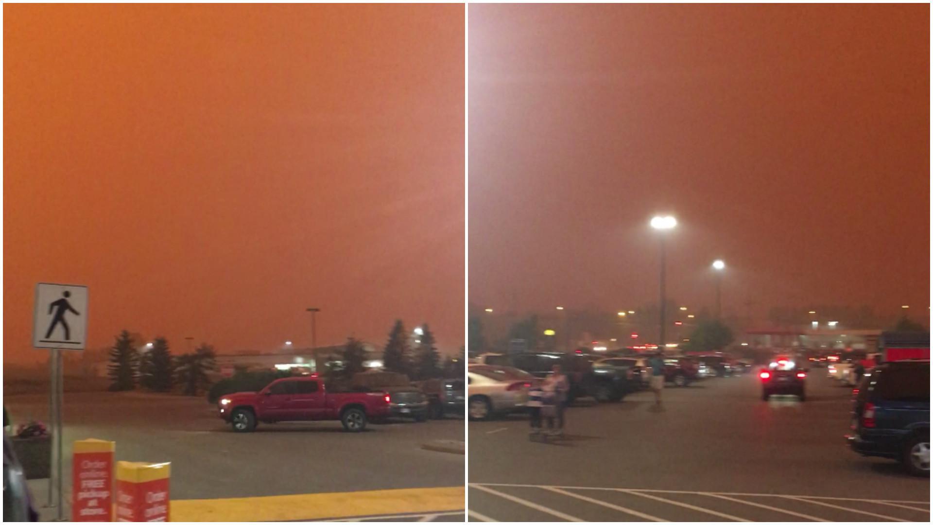 Incêndios florestais deixam céu do Canadá apocalíptico