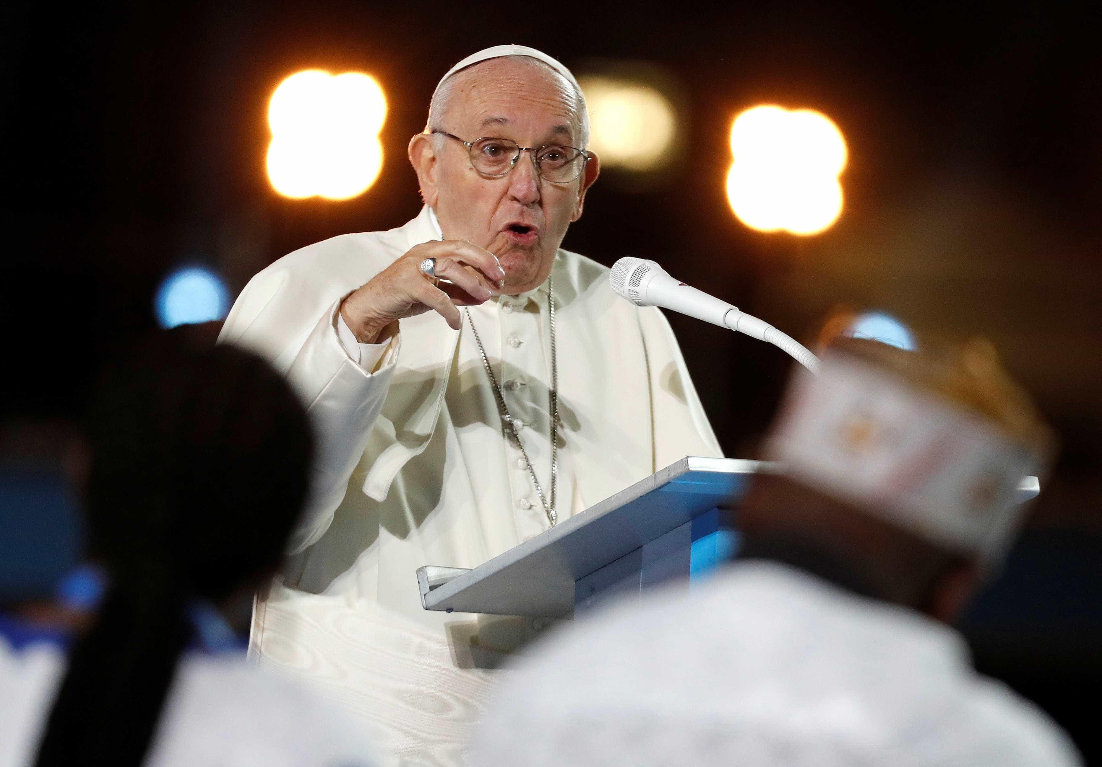 Papa diz que casos de pedofilia 'diminuíram'