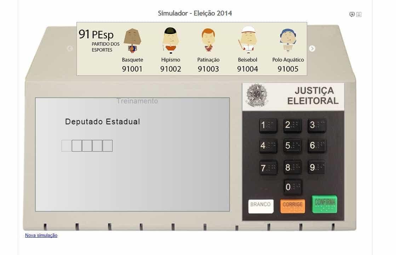 Software do TSE permite que eleitor simule voto na urna eletrônica