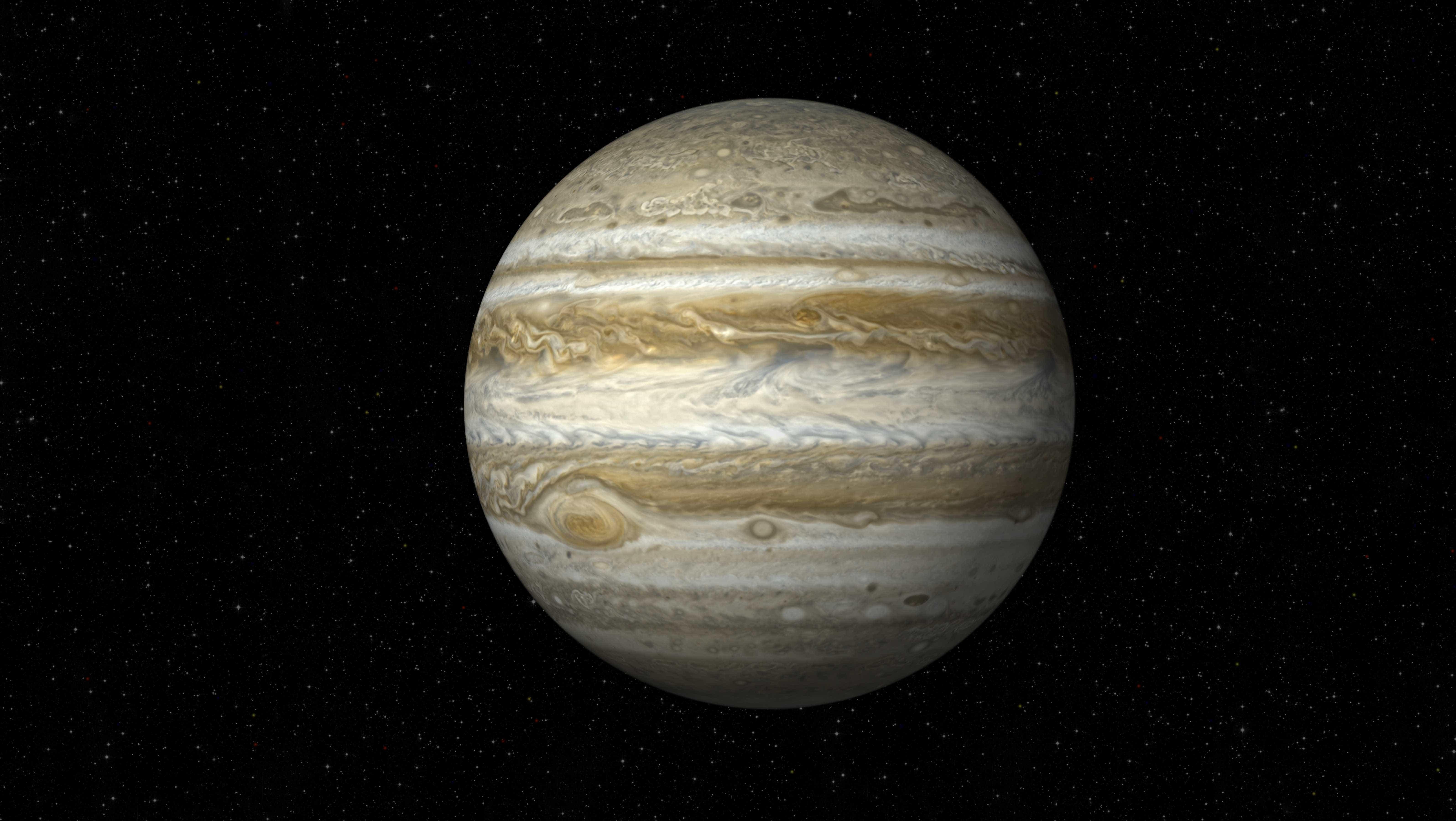 Nova foto mostra duas tempestades em Júpiter