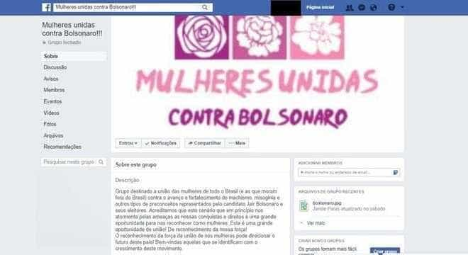 Mulheres se unem nas redes contra Bolsonaro