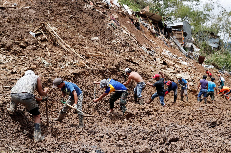 Após passagem de tufão, 100 pessoas ficam presas em mina nas Filipinas