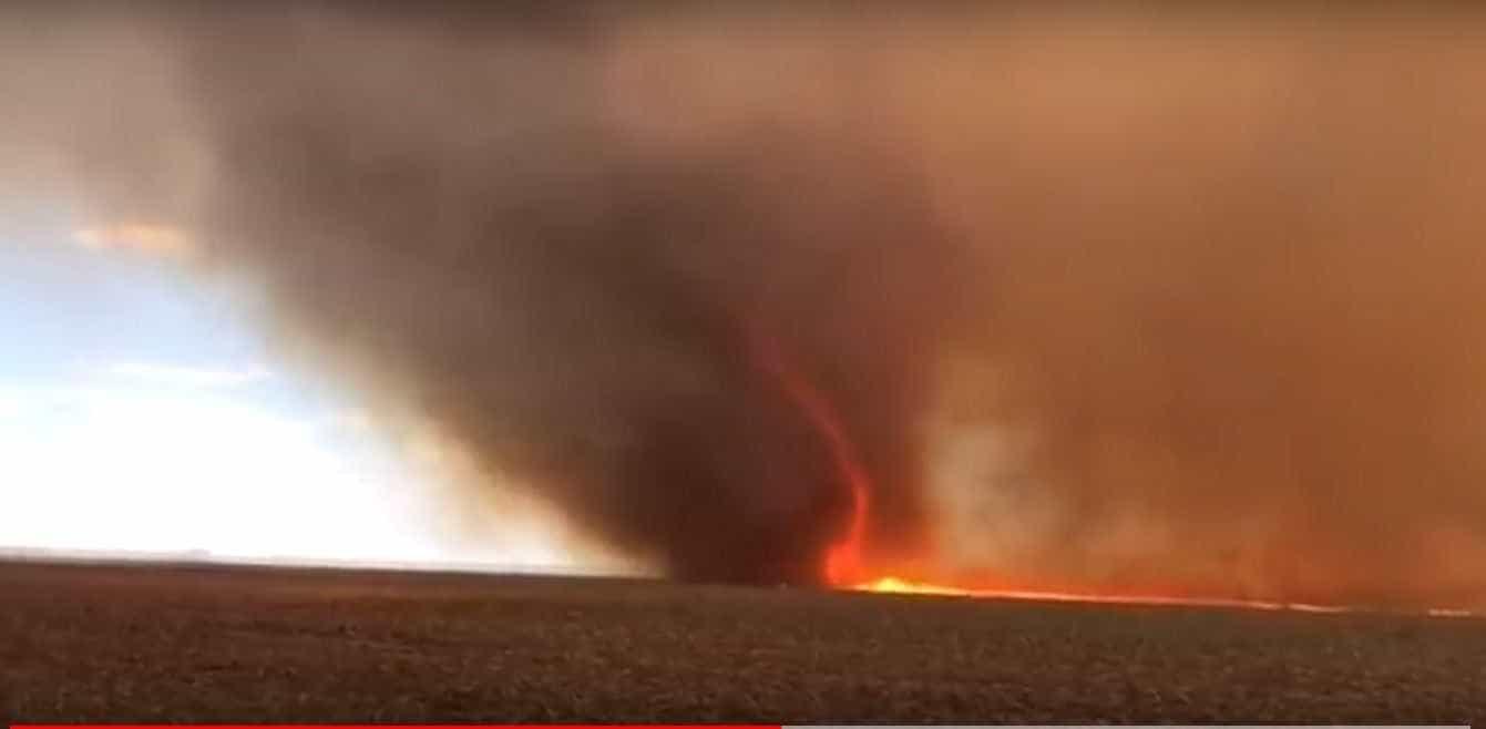 'Tornado de fogo' é visto em MG e especialista explica fenômeno