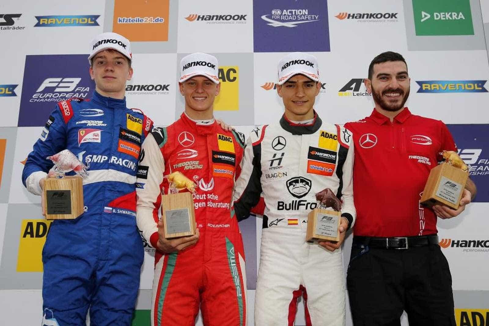 Filho de Schumacher vence 4ª seguida e assume liderança da F3 Europeia
