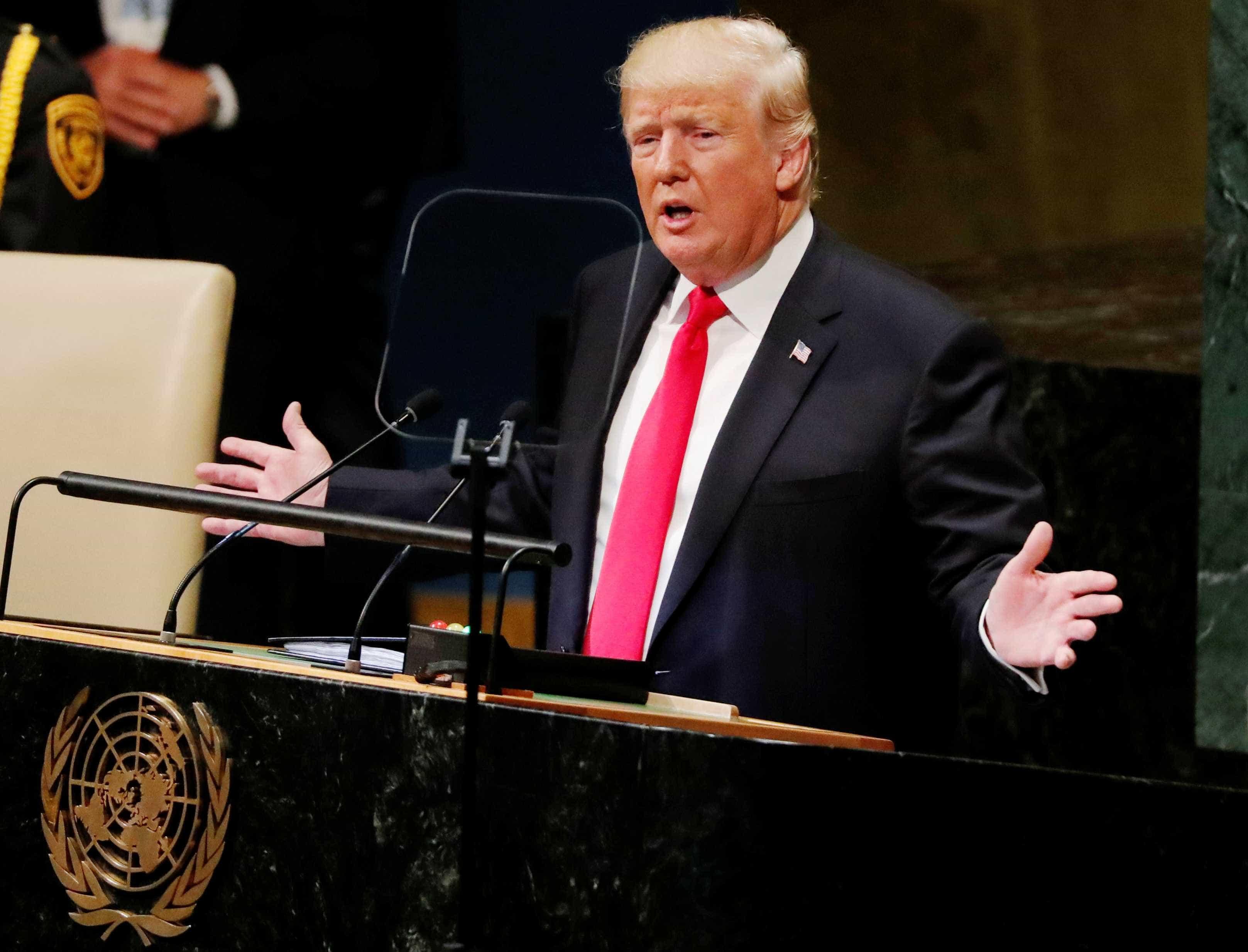 Após atraso, Trump faz discurso nacionalista na ONU