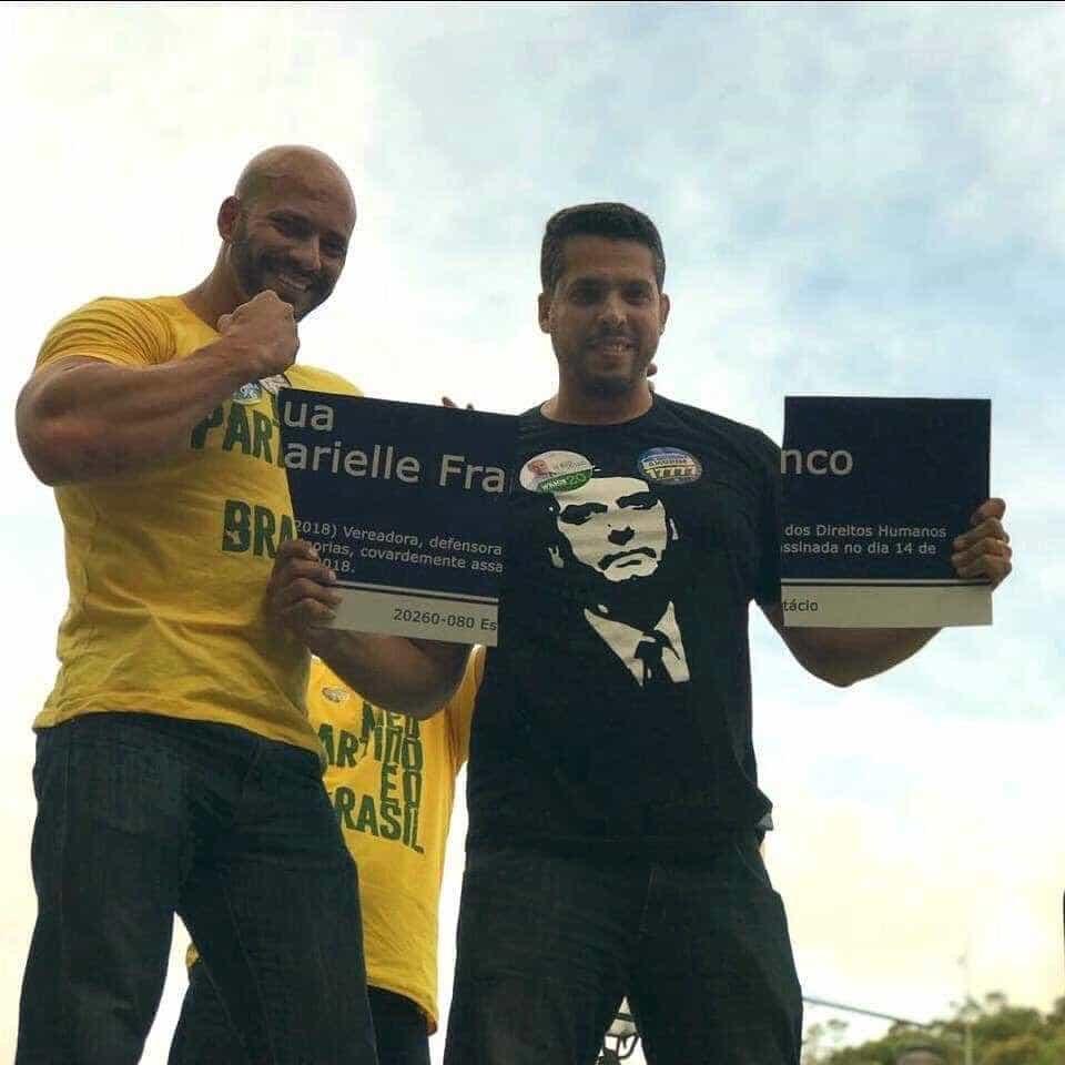 Candidatos do partido de Bolsonaro destroem homenagem a Marielle