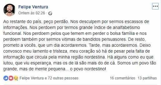Ex-goleiro de Fla e Corinthians diz que nordestinos têm 'mente pequena'