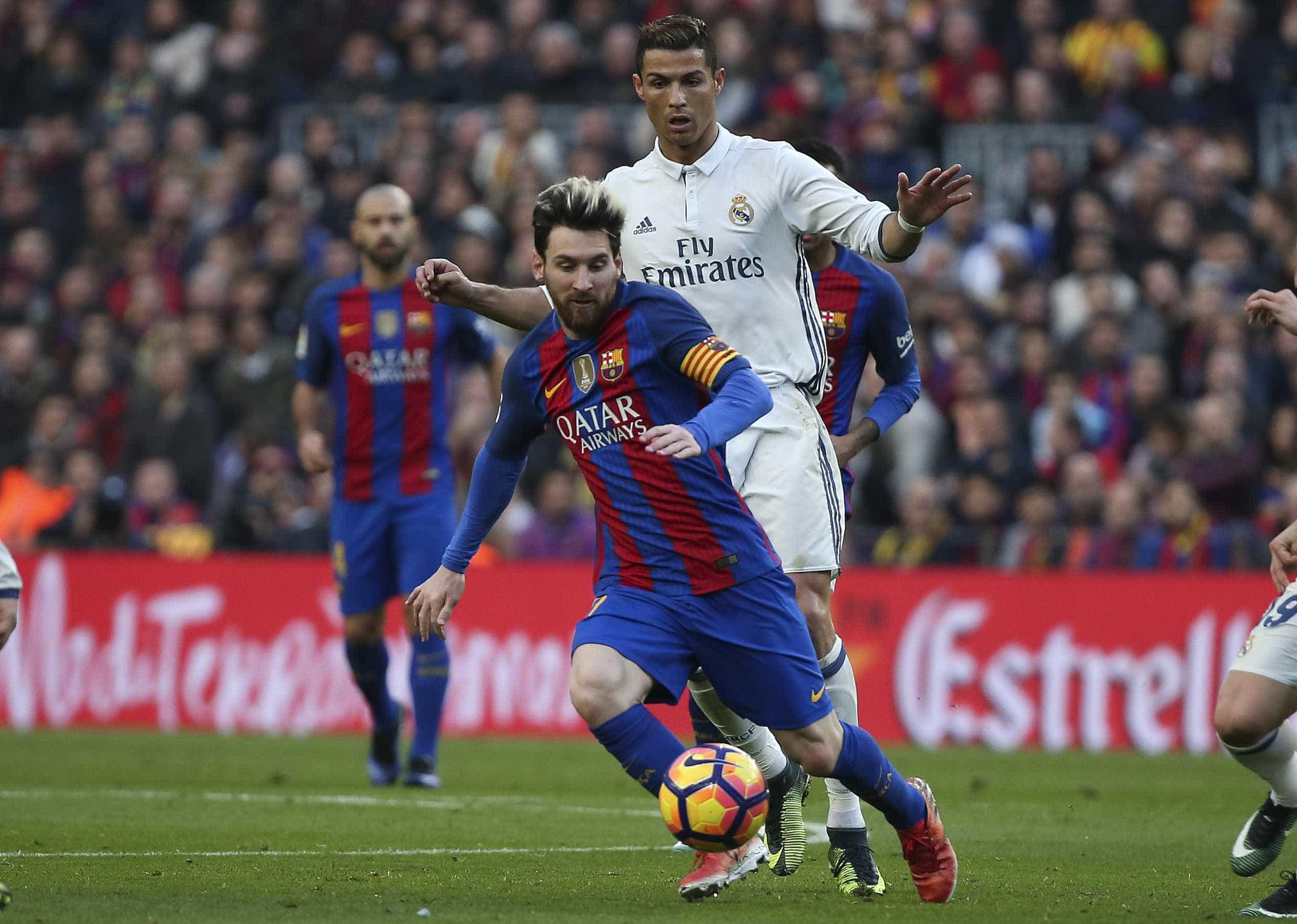 Barça e Real fazem 1º clássico sem Messi e Cristiano Ronaldo desde 2007