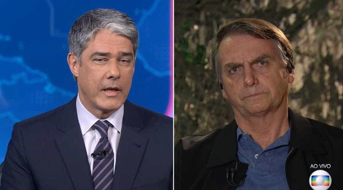 Bolsonaro critica a Folha no JN, e Bonner rebate: 'É um jornal sério'