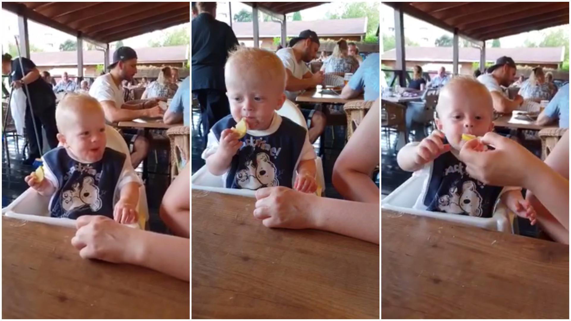 Já viu um bebê adorar limão? Veja a reação dessa criança!