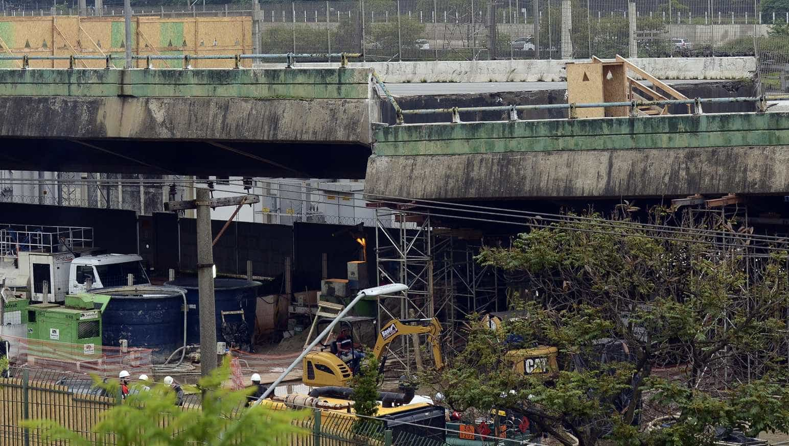 Obra para recuperar viaduto na marginal Pinheiros deve durar seis meses