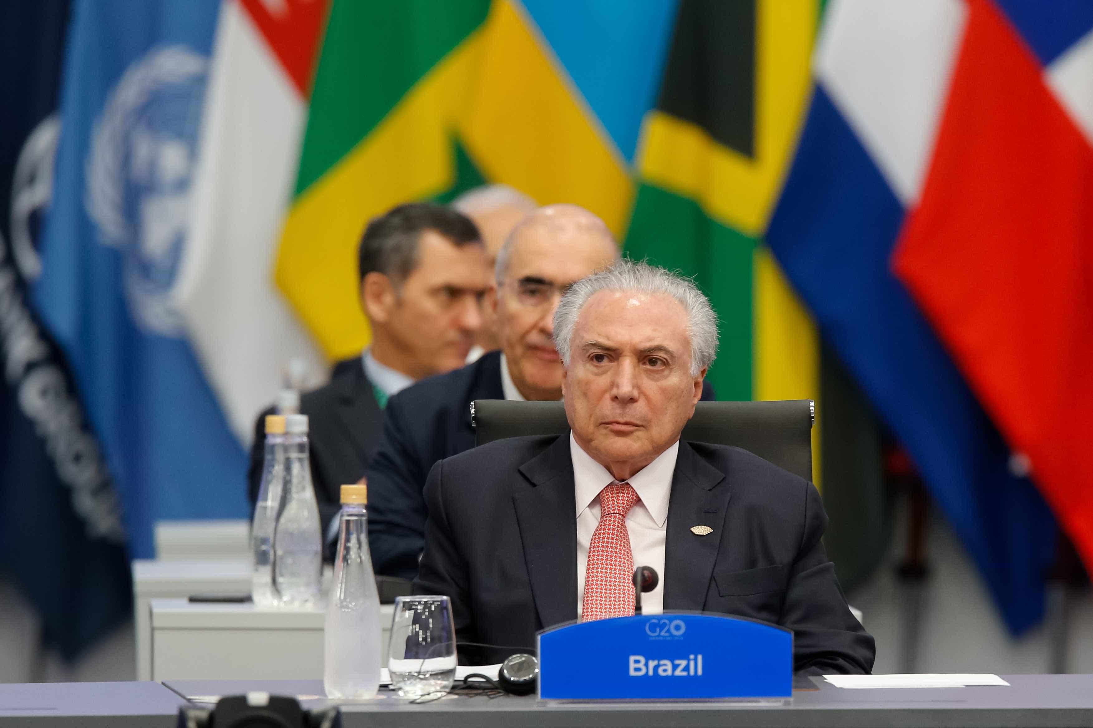 No G20, Temer diz que mundo deve recusar facilidades do isolacionismo