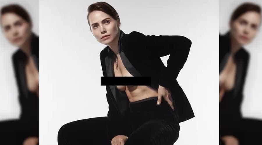 Letícia Colin é censurada por estar com seio de fora em rede social