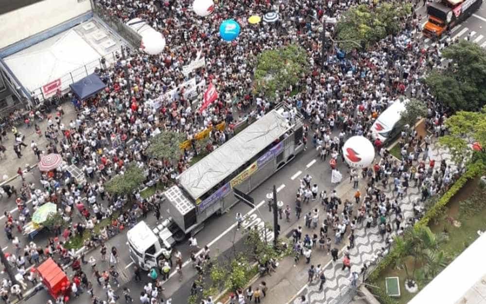 Professores protestam contra reforma da Previdência municipal em SP