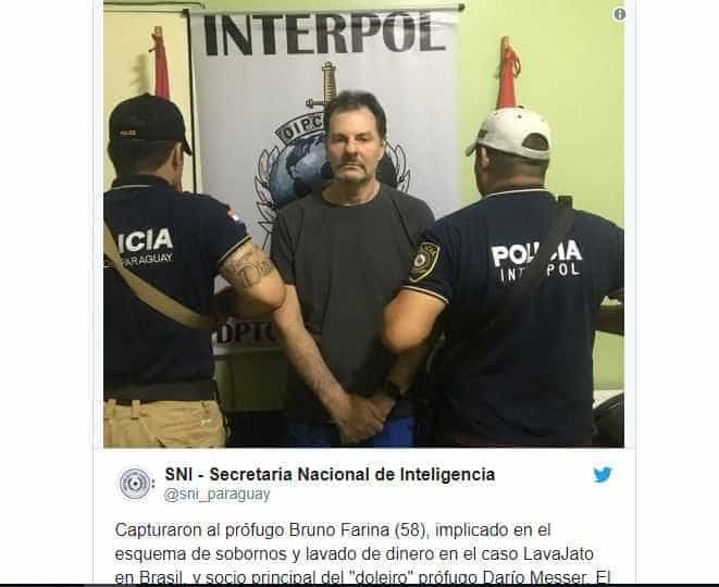 Sócio de 'doleiro dos doleiros' é preso pela Interpol no Paraguai