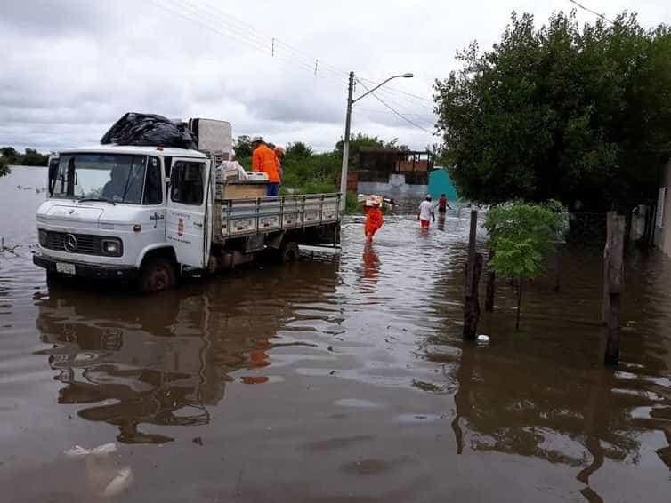 Chuva castiga e provoca prejuízo em cidades da fronteira no RS