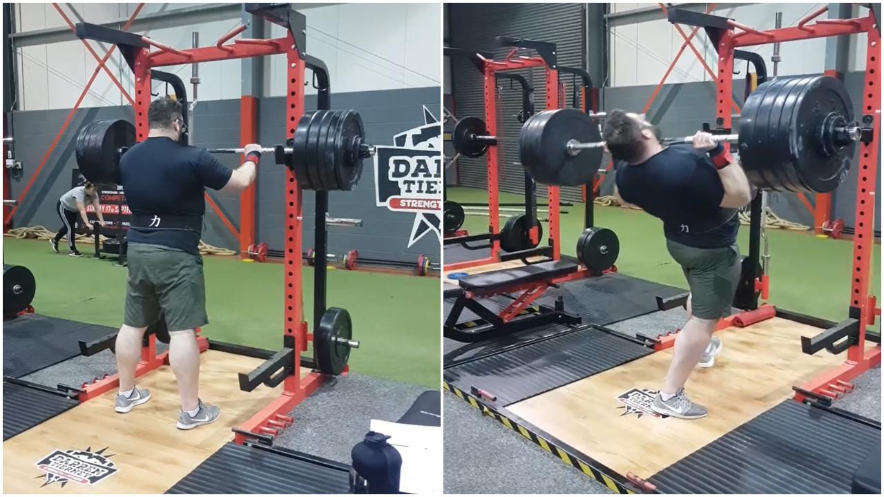 Atleta de levantamento de peso aumenta carga e se acidenta em treino