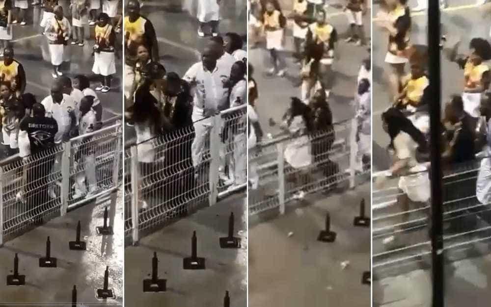 Integrante da Vai-Vai agride mulher durante ensaio no Anhembi, vídeo