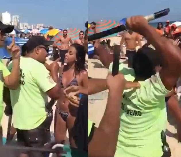 Vídeo mostra policial militar agredindo mulher na praia de Ipanema